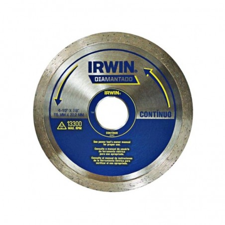 DISCO DIAMANTADO 4.1/2  CONTINUO IRWIN IW8943