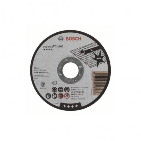 """DISCO DE CORTE 1/16"""" PARA ACERO INOX. BOSCH 2608600215"""