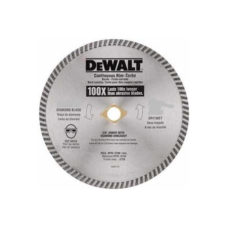 DISCO DIAMANTADO DEWALT TURBO 9 PULG DW47900HP