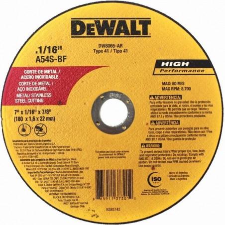DISCO FINO 7 X 0.055 X 7/8 DEWALT DW8065